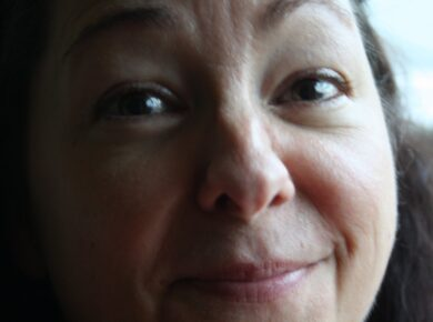 Close up af Tinas ansigt - Campbell.dk