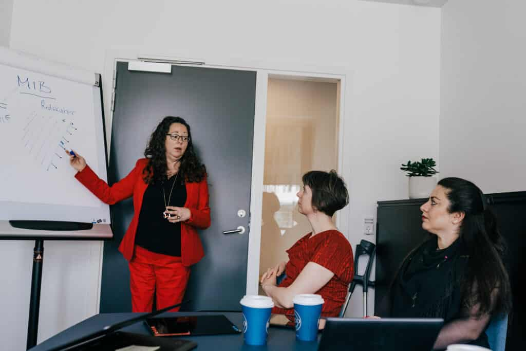 Workshop for fleksjobbere underviser
