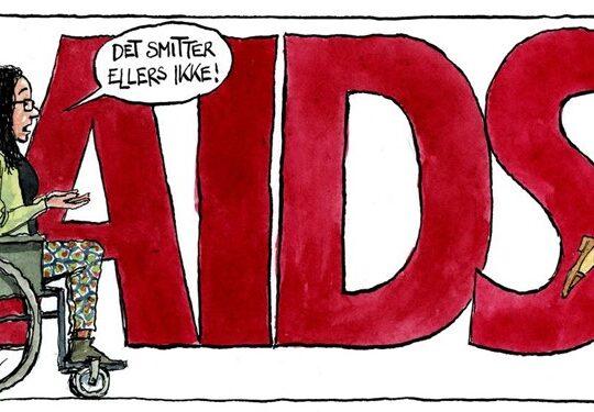AIDS tegning Jyllandsposten krise